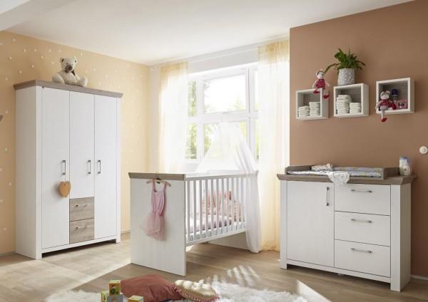 Babyzimmer New York Set 1 anderson pine nelson eiche 4 tlg