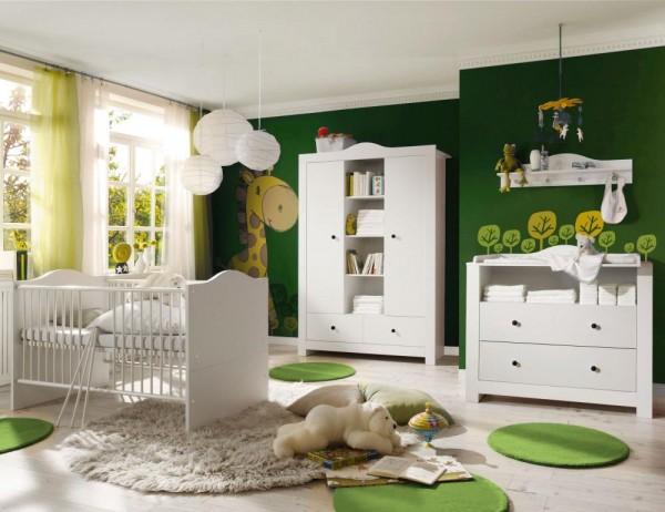 Babyzimmer P aris weiß matt 5 tlg dunkle Griffe EAN 42604985227 12