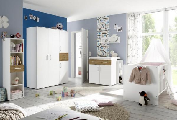 Babyzimmerset Sienna 8tlg. weiß matt asteiche EAN 4260498522750