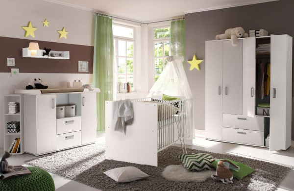 Babyzimmerset Sydney 6tlg. weiß EAN 4260498522705