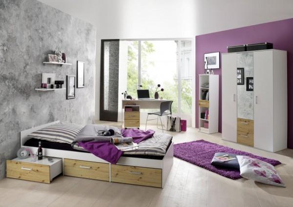 Jugendzimmer Berlin weiß matt asteiche 6 tlg EAN 4260498522767