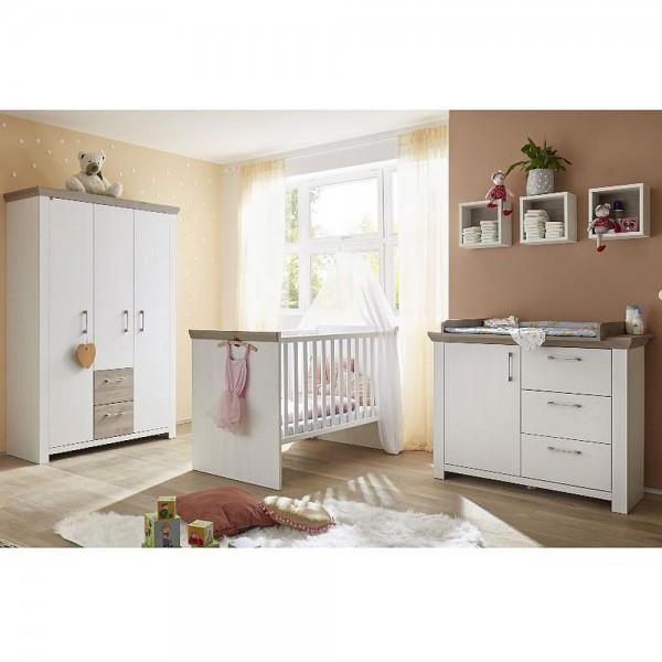 Babyzimmer New York Set 3 anderson pine nelson eiche 5 tlg