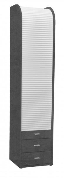 Rolloschrank graphit weiss BHT 45x202x44 cm 761 02 1RL