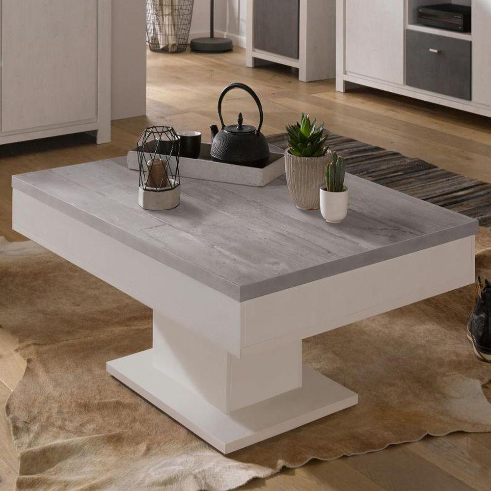 granny couchtisch 0636 ct 80x80 weiss matt beton. Black Bedroom Furniture Sets. Home Design Ideas