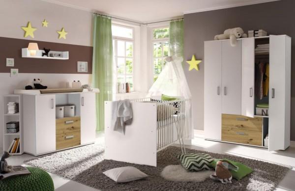 Babyzimmerset Sydney 6tlg. weiß / asteiche EAN 4260498522705