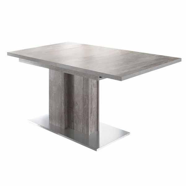 Esstisch Jump 0556/160-210 beton / edelstahloptik