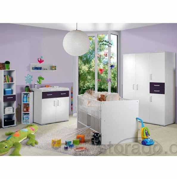 Babyzimmer Isabel Weiss/Lila 8 tlg.