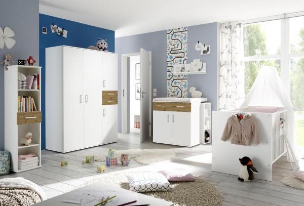 Babyzimmerset Sienna 8-tlg weiß matt asteiche EAN 4260498522750