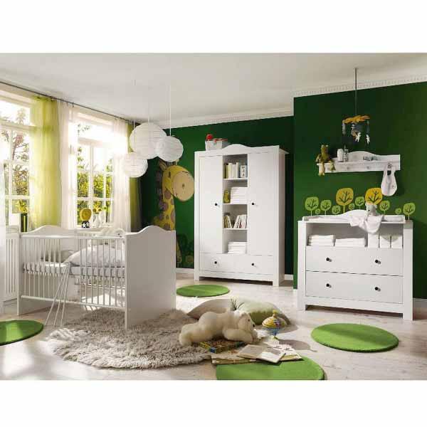 Babyzimmer Paris weiß matt 5 tlg. dunkle Griffe EAN 42604985227 12