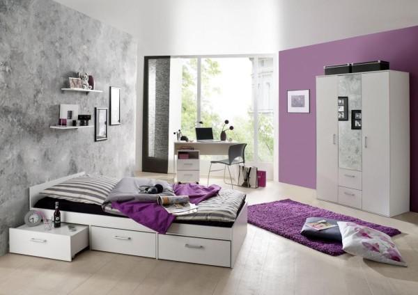 Jugendzimmer Berlin weiß matt 6-tlg. EAN 4260498522767