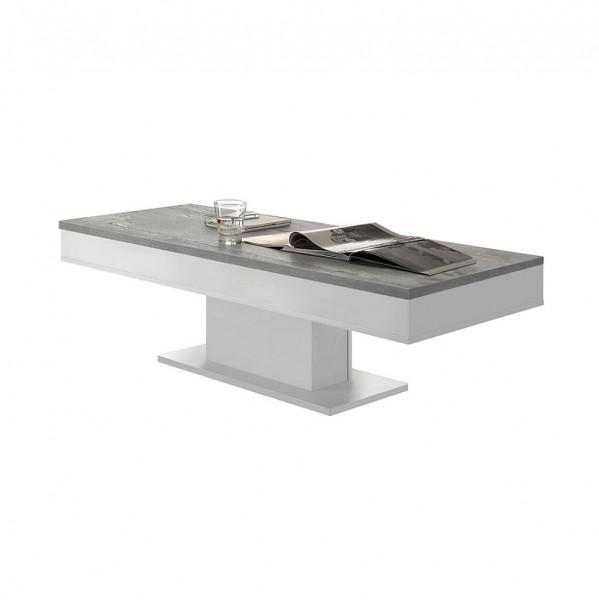 Granny Couchtisch 0636 CT-120 weiss matt beton 120 x 40 x 60 cm