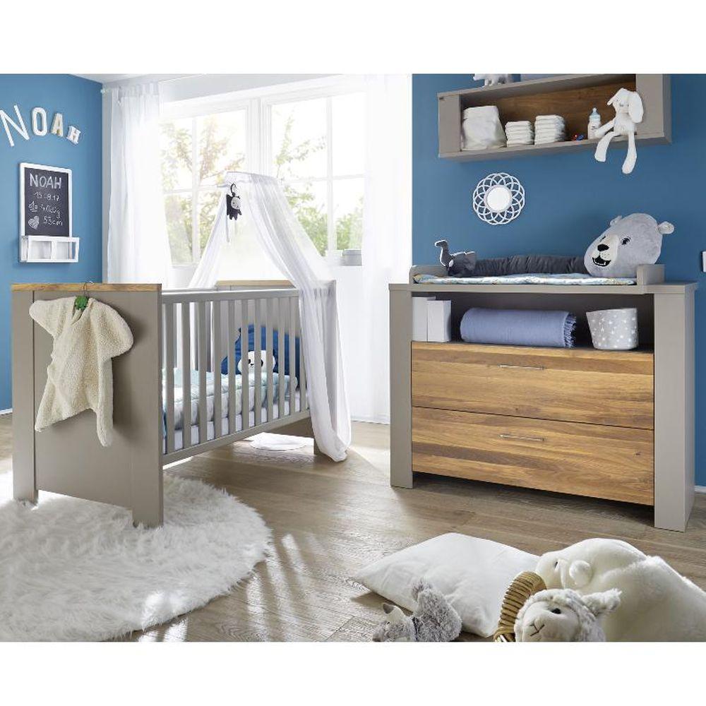 Babyzimmer f zwillinge tokio set 4 taupe wildeiche g lt 5tlg - Babyzimmer zwillinge ...