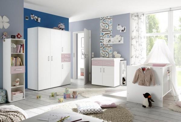 Babyzimmerset Sienna 8tlg weiß matt flieder EAN 4260498522750