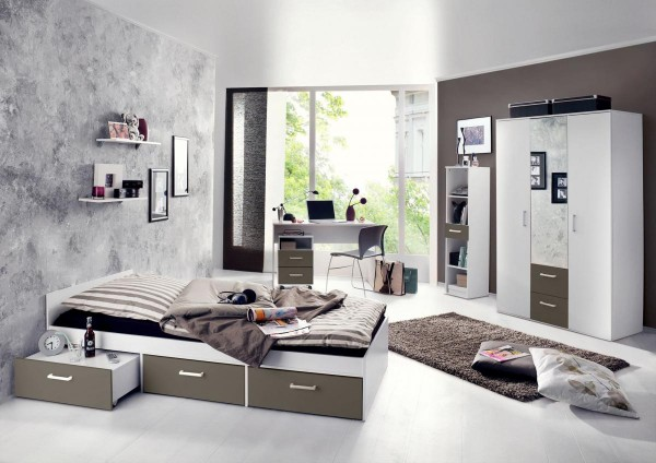 Jugendzimmer Berlin weiß matt lava 6 tlg. EAN 4260498522767