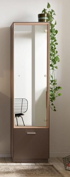 Garderobenschrank mit Spiegel lava asteiche B H T 50x193x41 cm Frame GS1 1Sp