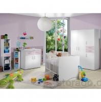 Babyzimmer Isabel Weiss Flieder 8 tlg.