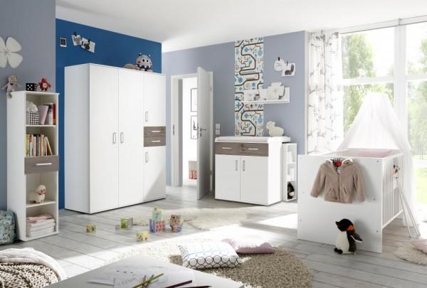 Babyzimmerset Sienna 8tlg weiß matt Applikationen EAN 4260498522750