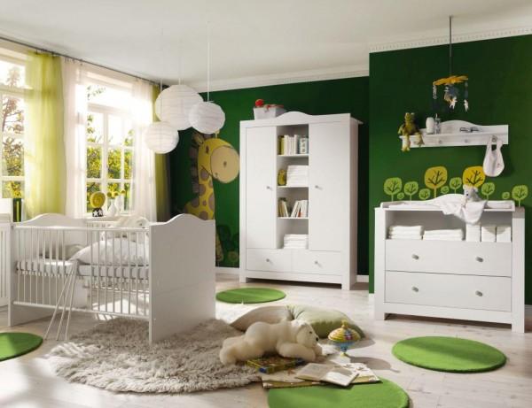 Babyzimmer Paris weiß matt 5 tlg. helle Griffe EAN 4260498522712
