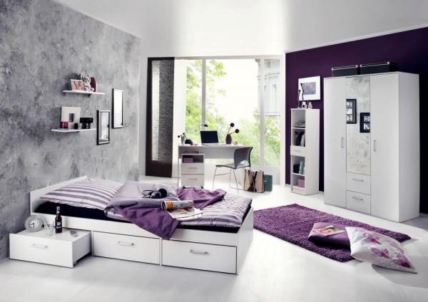 Jugendzimmer Berlin weiß matt 6 tlg. EAN 4260498522767